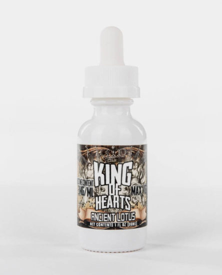 Ancient Lotus - premium maple bourbon tobacco flavored e-juice by King of Hearts