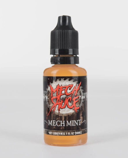 premium vanilla cupcake with peppermint icing flavored e-juice by Mech Sauce