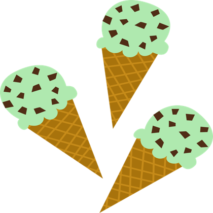 Mint ice cream clipart